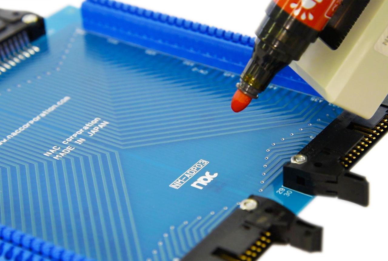 自動打点機スマートマーカーNMPEN04基板検査例