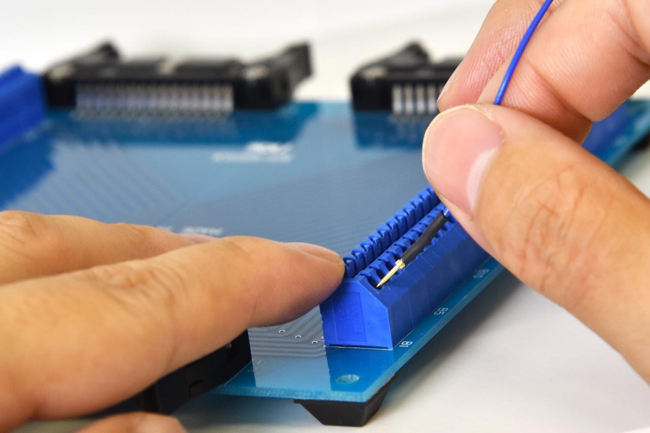ハーネス検査用治具基板NMADP-03工具不要ワンタッチ接続