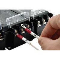 指タッチで導通検査をして配電盤へ配線